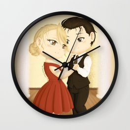 Dancing together - Chibi Royai Wall Clock