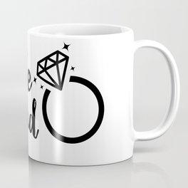 Bride Squad in Black Lettering Coffee Mug