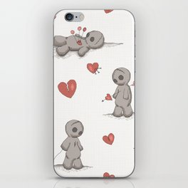 Broken hearted Voodoo Dolls iPhone Skin