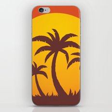 Palm Trees And Summer Sunset iPhone & iPod Skin