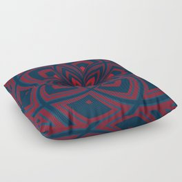 Spiral Rose Pattern C 1/4 Floor Pillow