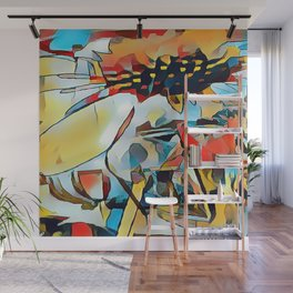 Daisy One Abstract Wall Mural
