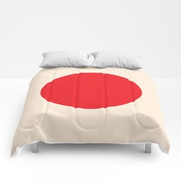 one red dot Comforters
