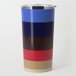Color Harmony Geometric Pattern Colour Block Stripes Travel Mug