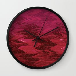 Red Faded Chevron Wall Clock