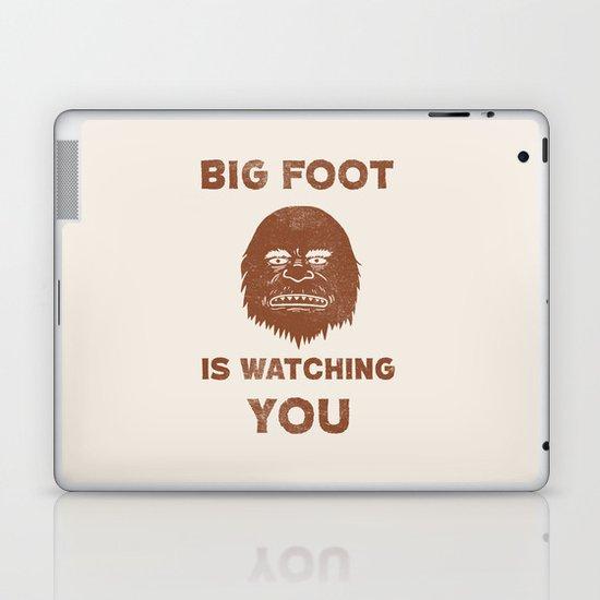 Big Foot Is Watching You Laptop & iPad Skin