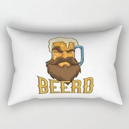 Beard Mug - Beerd - Beer Lover Rectangular Pillow