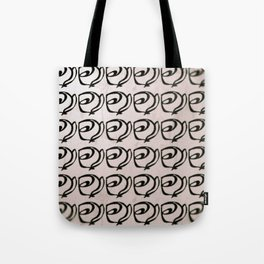 Rows of Flowers, Pink Tote Bag