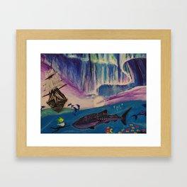 I was born in the ocean. Framed Art Print