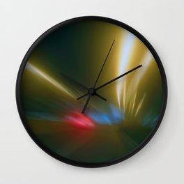 Light Trails in the Dark,Traffic Light Trails,AbstractTraffic Lines Wall Clock