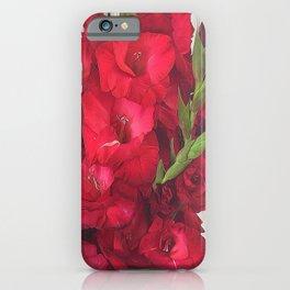 Red Gladiolas iPhone Case
