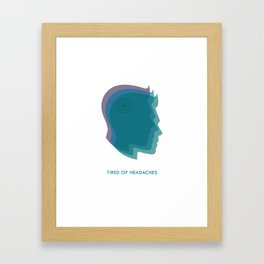 Headaches Framed Art Print