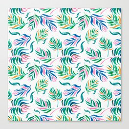 Tropical flow Canvas Print