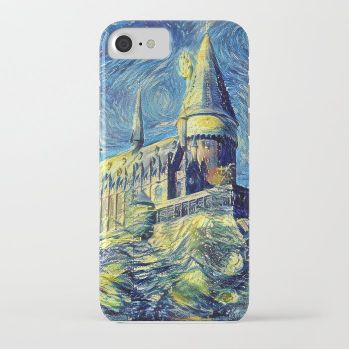 hogwarts starry night iphone case