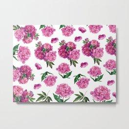 Peony Flowers Metal Print