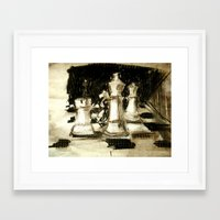 chess Framed Art Prints featuring Chess by James Peart
