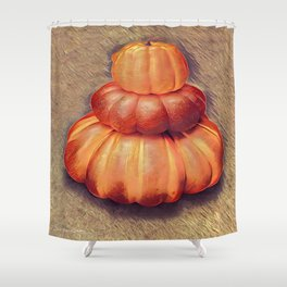 Nice Set Of Gourds 3 Shower Curtain
