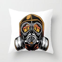 Gask Mask Throw Pillow