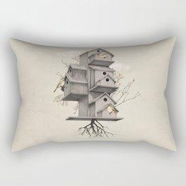 Bird Houses - Stay Home Rectangular Pillow