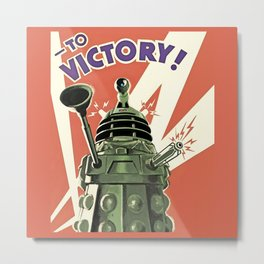 Daleks To Victory - Doctor Who Metal Print