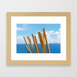 Building Up an Island Framed Art Print
