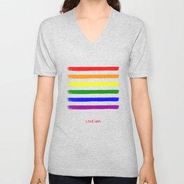 Love wins! Unisex V-Neck