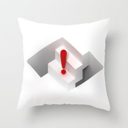 an optical illusion artwork of a stair steps that can go up or down Throw Pillow