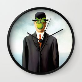 Rene Magritte The Son of Man, 1964 Artwork, Tshirts, Posters, Prints, Bags, Men, Women, Youth Wall Clock