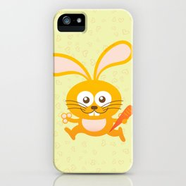 Smiling Little Bunny iPhone Case