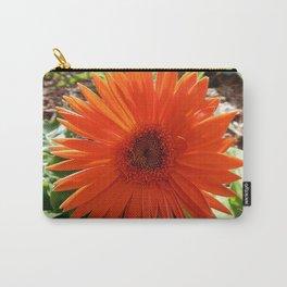 Bright Orange  Gerbera Daisy Carry-All Pouch