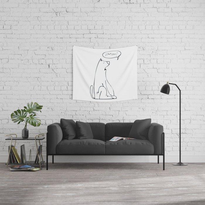 miau! Wall Tapestry