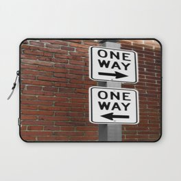 Street Sign One Way photography Laptop Sleeve