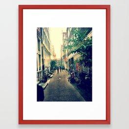 Sunset - Amsterdan Framed Art Print