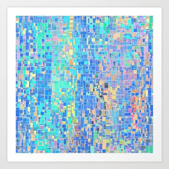 When Oceans Collide Art Print
