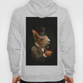 Sophisticated Pet -- Sqirrel in Top Hat with glass of wine Hoody