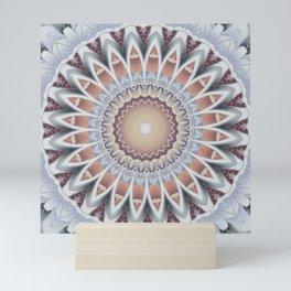 Mandala cold wintersun Mini Art Print