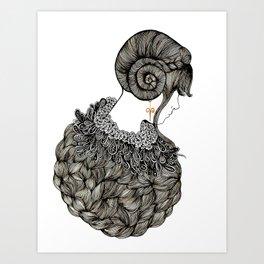 Aries Lady - Illustration By Chrissy Lau Art Print