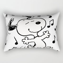 Dancing Snoopy Rectangular Pillow