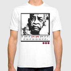 SRILA PRABHUPADA MEDIUM White Mens Fitted Tee
