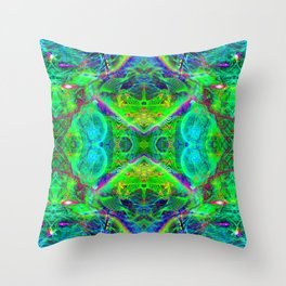 Techno Electric III (Ultraviolet) Throw Pillow