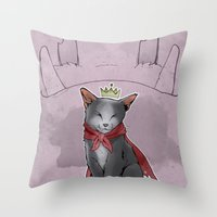 sith Throw Pillows featuring Cait Sith by poopbird
