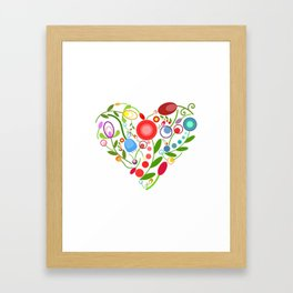 Floral heart Framed Art Print