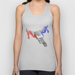 Patriotic Cow Skull Unisex Tank Top