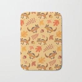 Autumn chipmunks Bath Mat