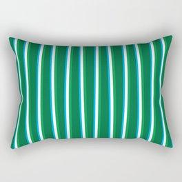 Between the Trees - Forest Green, Green & Blue #811 Rectangular Pillow