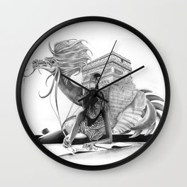 HOW IT BEGINS (featuring the photography of Harvey Lisse w/his daughter Chontelle) Wall Clock