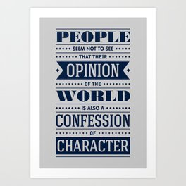 Lab No. 4 People Seem Not to Ralph Waldo Emerson Inspirational Quote Art Print