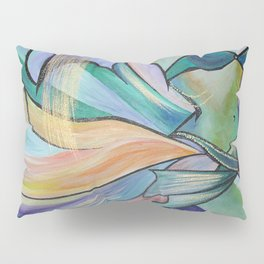 Middle Eastern Belly Dance With Pastel Veils Pillow Sham