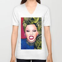 rupaul V-neck T-shirts featuring RUPAUL by Alli Vanes