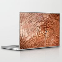 tree rings Laptop & iPad Skins featuring Tree Rings by rebecca haegele